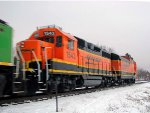 130209006 BNSF Snowplow Extra Heads Westbound In Anticipation Of Major Winter Storm