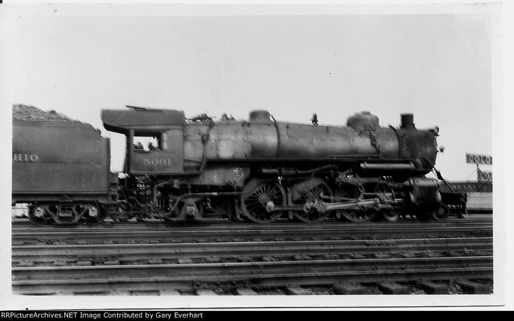BO 4-6-2 5091 - Baltimore & Ohio RR