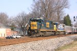 CSX 7558 on the Charlotte bound Circus train
