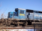 CSXT 8865 idles on the Industrial trk with three other units