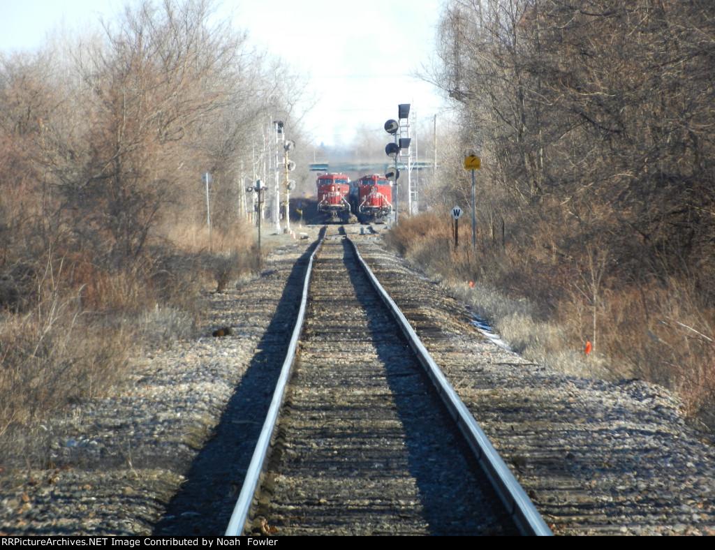 Trains wait