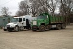 BN Dump truck and BNSF MoW truck