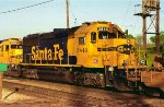 ATSF 3846, EMD GP50, Eastbound at Nerska Crossing
