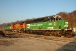 BNSF 3120, EMD GP50, at Gibson Yard