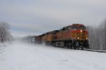BNSF 4670 leads ethanol empties westbound near MP 381