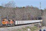 BNSF 6110 On NS 733 Northbound