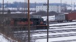 Meanwhile, a second W&LE train waits to enter the Bellevue Yard.