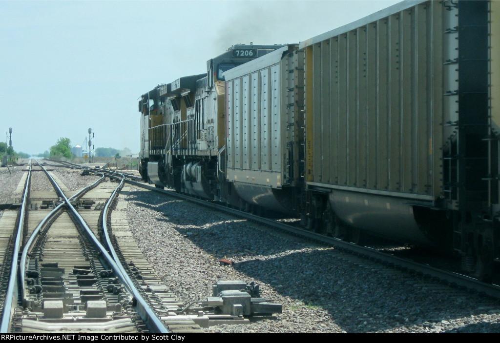 Eastbound coal at Lyndon plant