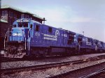 CR 6566 - Conrail at Springfield, Mass - 1985