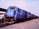 Conrail working Springfield, Mass - 1985