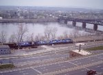 Panoramic View of Conrail on Conn River Line - 1985