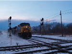 CSX 487 rides another weather front.