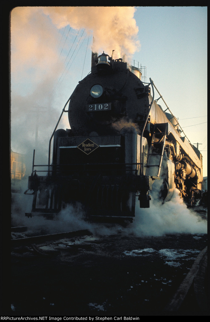 Reading 2102 at Hagerstown, 1972