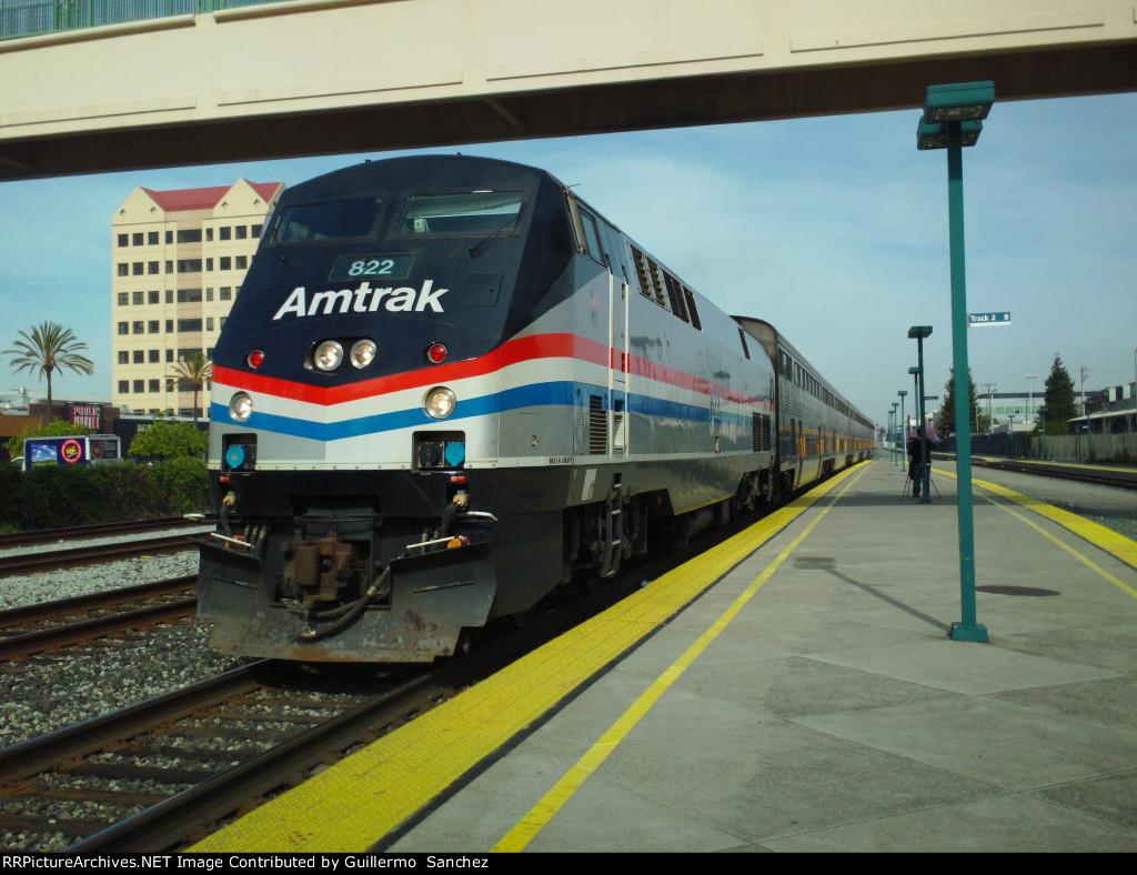 AMTK P40DC 822 at Emeryville
