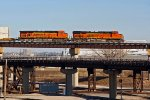 BNSF 7210 Bring's up a Eb stack train.