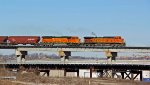 BNSF 5629 Run's Eb on a loaded grain train.