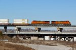 BNSF 4956 Rips a EB across the flyover.