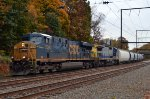 "CSX ES40DC 5500 ""Spirit of Cincinnati"" leads Q410-25"