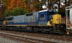 CSX C40-8 7558 trails on Q410-25