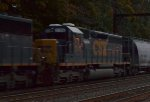 CSX SD40-2 8305 fourth out on Q438-22