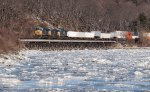 Q008 crossing the the icy Hudson river
