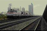Deadhead Amtrak Auto Train at Birmingham = 13th St Interlockin
