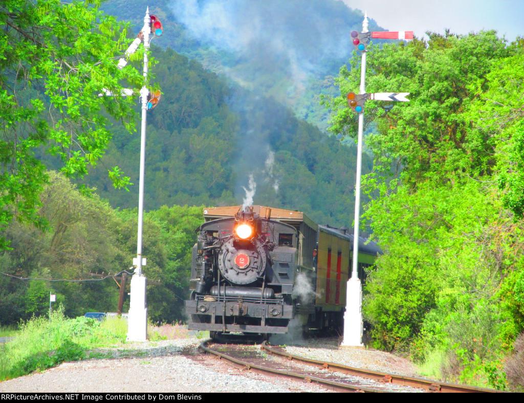 Quincy Railroad #2 Splits the  Semaphores