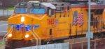 Union Pacific 7665 Leads Auto Train