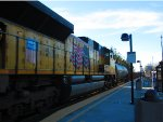 Union Pacific SD70ACe #8369 Tags Along on Southbound MOW Train