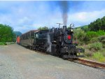 Quincy Railroad #2 Arrives at Sunol