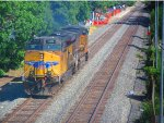 Southbound Union Pacific Power Move Passes Blossom Hill