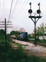 Ex-CR eastbound at Rossville, MD