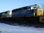 CSX 8111 & FURX 3023 run a WB mixed freight