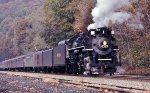 NKP 765 on a photo runby at Thurmond, WV