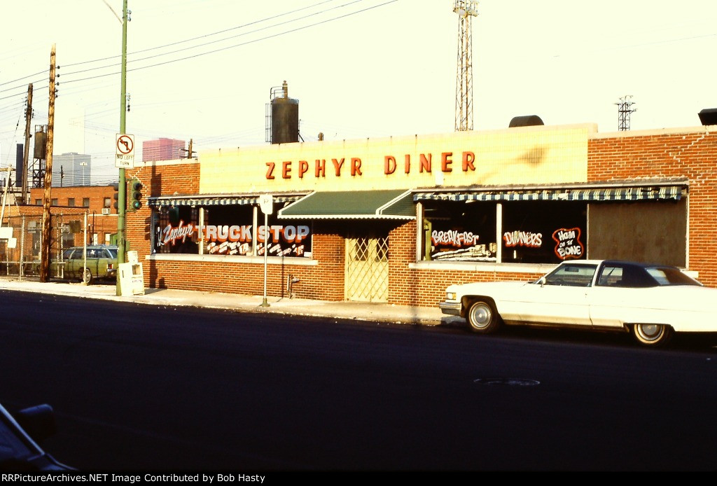 Accross the street from the Zephyr Pit was the Zephyr Diner.