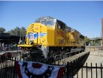 Union Pacific SD59MX 9900 sits on Display next to CSRM with UP 844 in the Background!.