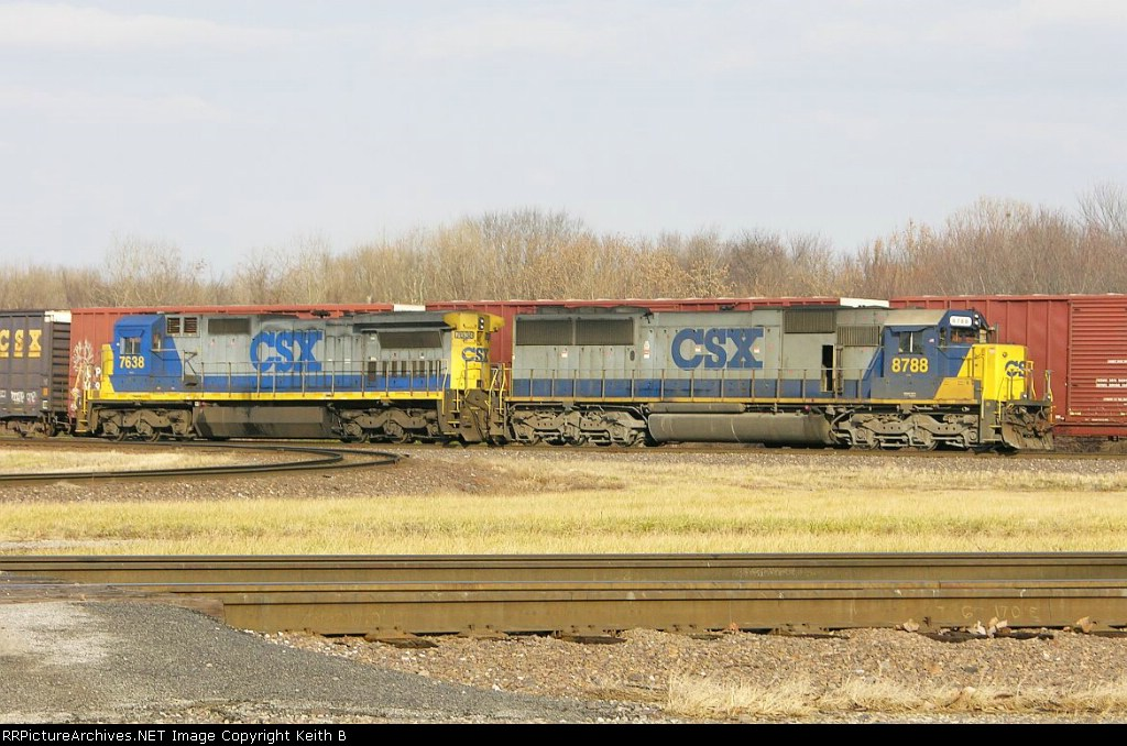 CSX 8788 and 7638
