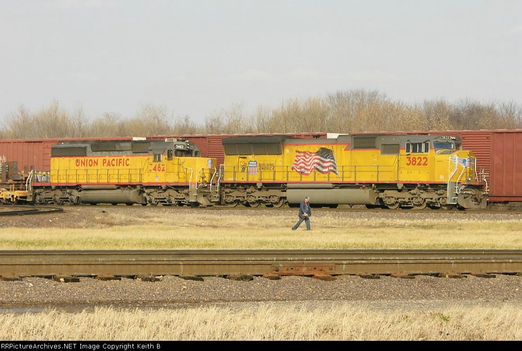 UP 3822 and 3462