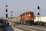 N956-15 splits the signals at the west end of Fox with coal for Essexville