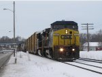 CSX 9006 leads Q326 east on Track 2 between Grandville and Ivanrest