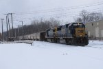 CSX 8708 & 7581 arrive at Wyoming Yard with Q335-01
