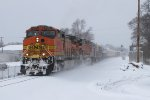 BNSF 5506 & 5166 power Q334-02 east off of Track 2