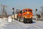 BNSF 9103 splits the Ivanrest searchlight signals with E945