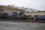CSX 8715 and two other Ex Conrails in the rain