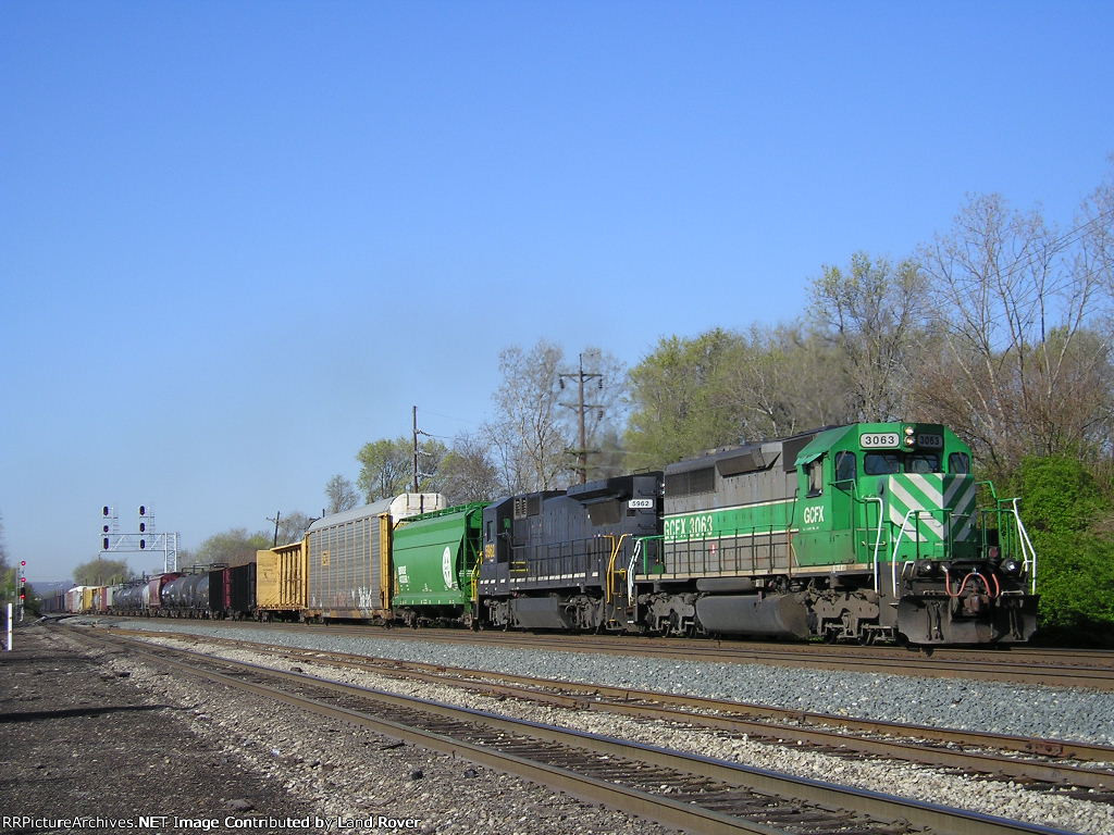 GCFX 3063 On CSX Q 342 Northbound
