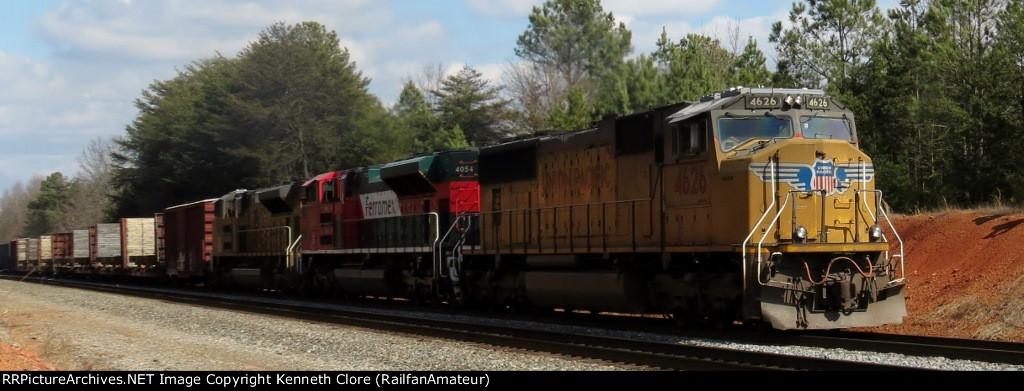 NS train #153 (Manifest) (Linwood, NC - Birmingham, AL) (pic 1)