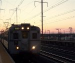 NJT 1380 at sunset