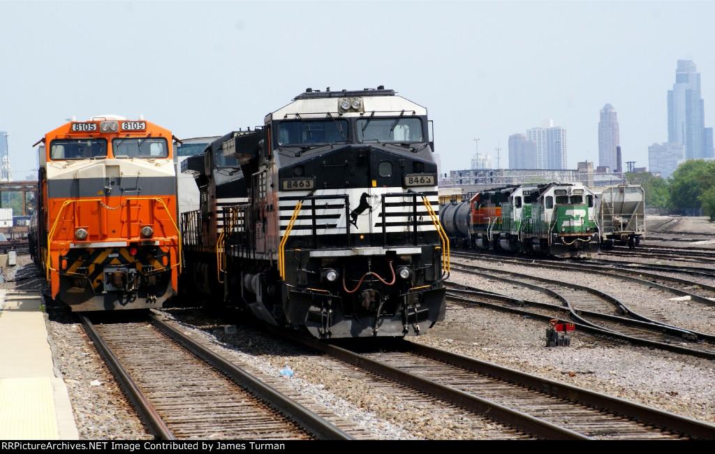 NS 8105, NS 8463, BNSF 1500