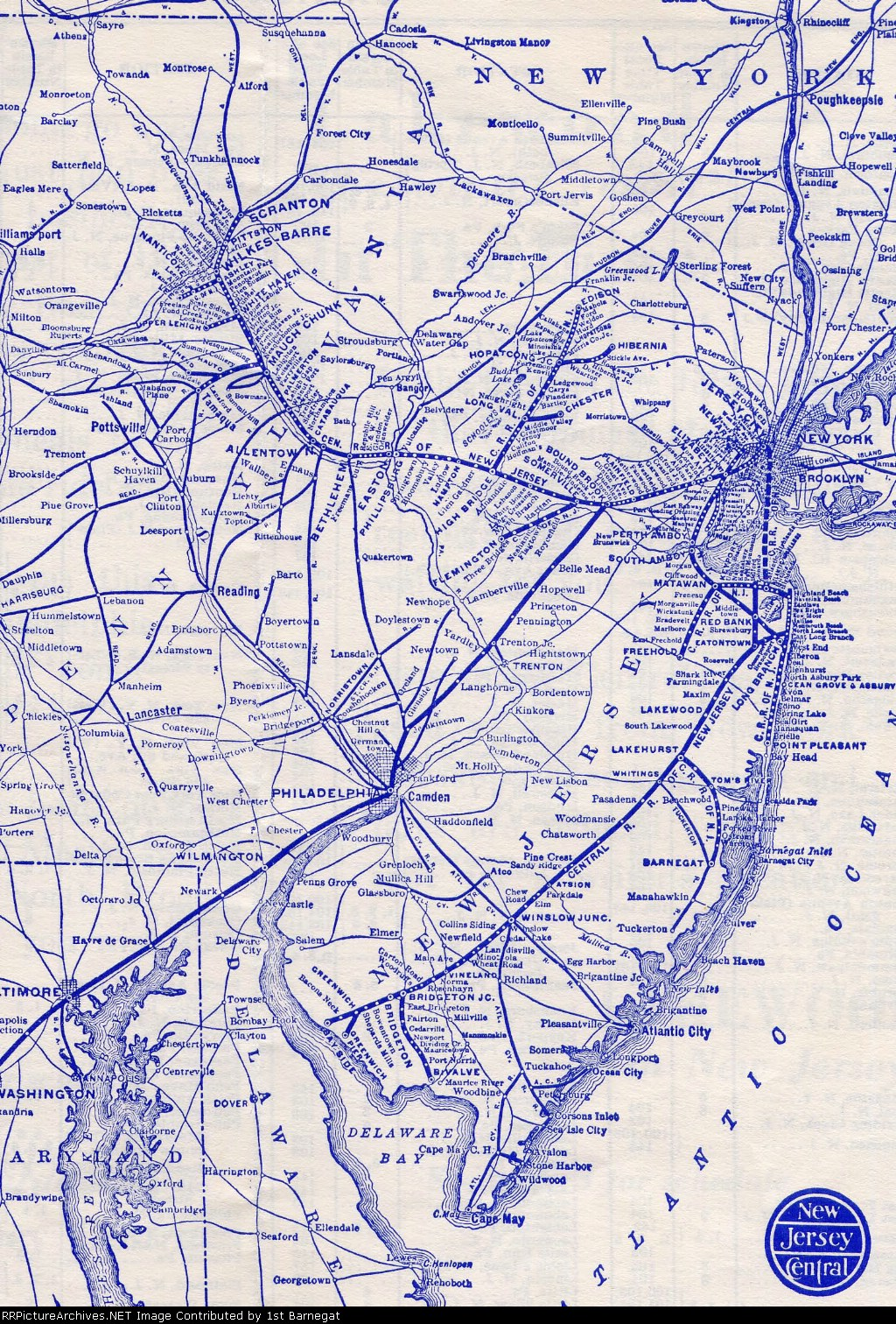 map of central railroad of new jersey in around and. map of central railroad of new jersey in around and