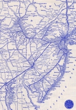 1934 Map of Central Railroad of New Jersey, in, around, and